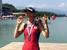 Tomita Chiaki with her medal!